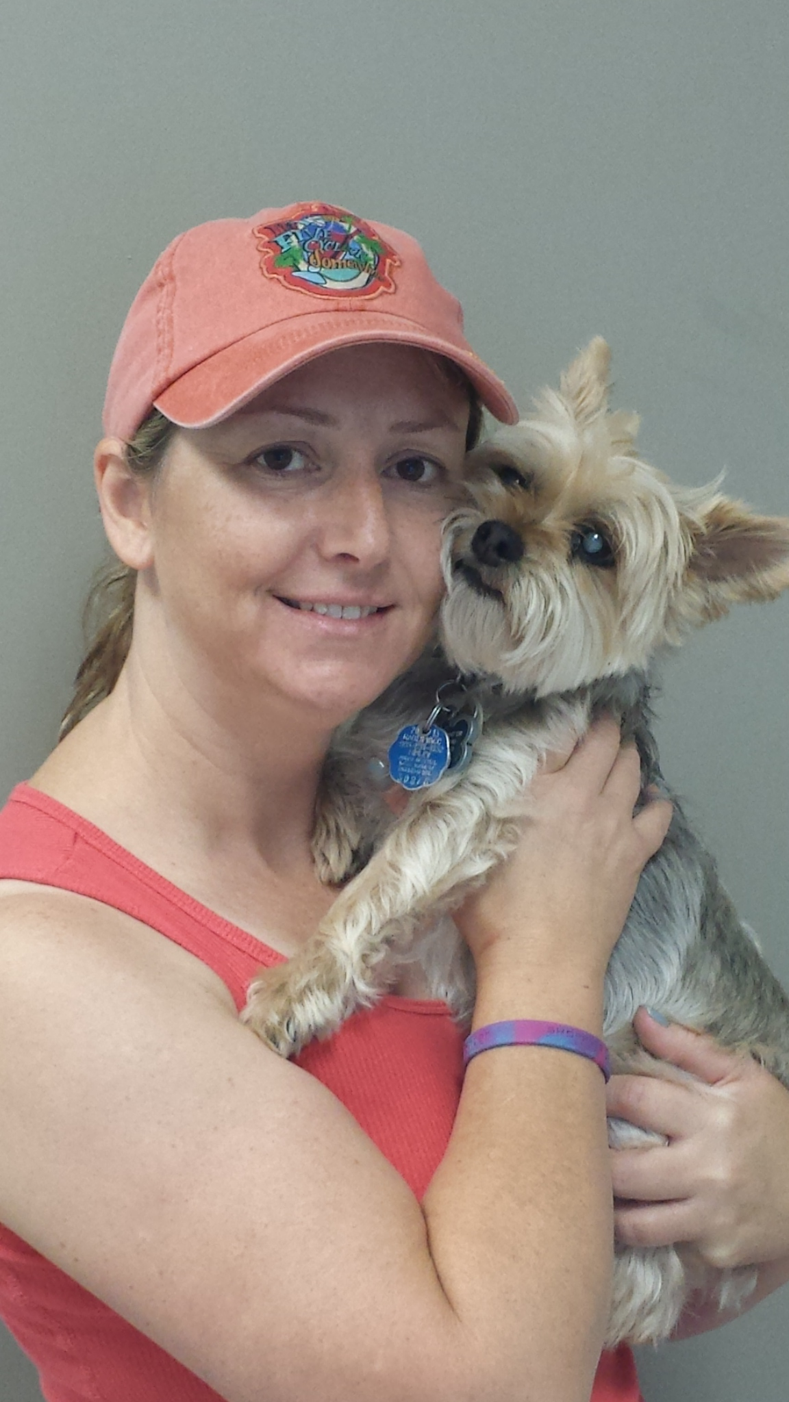 Kaylyn Bondar and a diabetic Yorkie named Jake